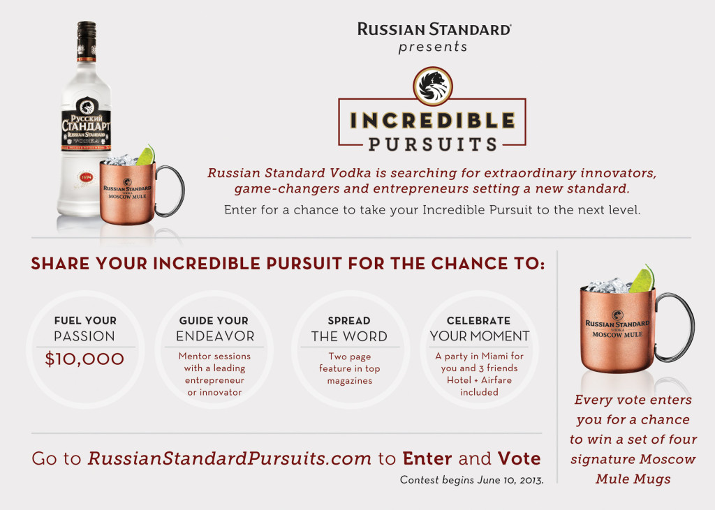RUSSIAN STANDARD VODKA INCREDIBLE PURSUITS